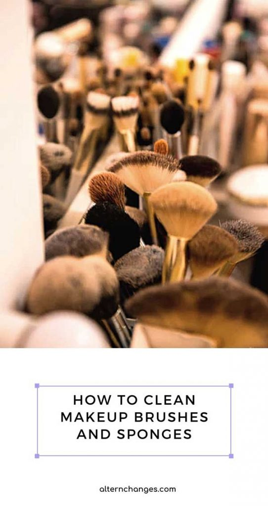 how to clean your makeup brushes and sponges at home DIY (1)