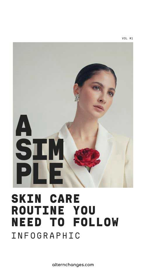 A simple Skin Care routine you need to follow Infographic.